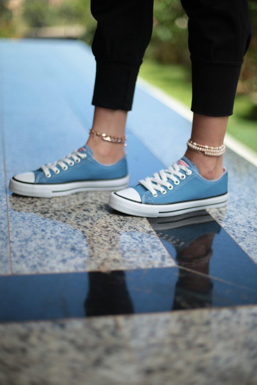 Kadın Ayakkabı - Bebek Mavisi