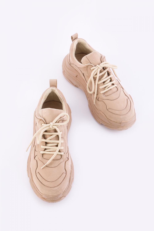 Kadın Toprak Süet Spor Ayakkabı