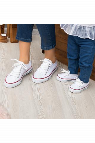Beyaz Keten Unisex Sneaker (20-44)