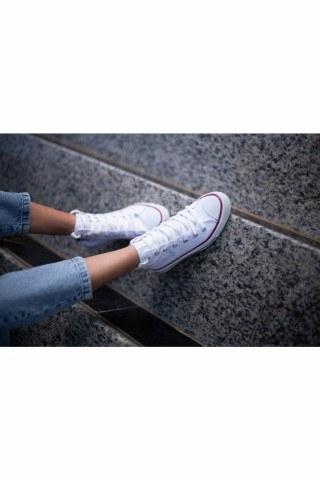 Erkek Ayakkabı - BEYAZ UZUN