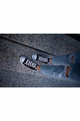 Erkek Ayakkabı - SİYAH&BEYAZ UZUN