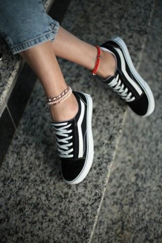 Kadın Günlük Spor Ayakkabı VESP-SİYAH-BEYAZ