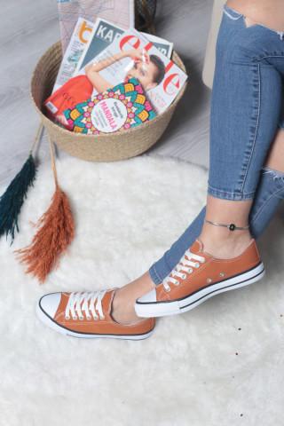 Kadın Safran Rengi Spor Ayakkabı