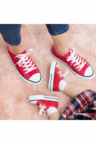Kırmızı Keten Unisex Sneaker (20-44)