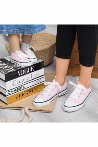 Pembe Keten Unisex Sneaker (20-40)