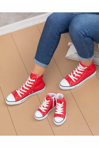 Unisex Bebek Uzun Spor Ayakkabı Roma Kırmızı (20-44)