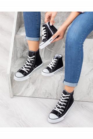 Unisex Bebek Uzun Spor Ayakkabı Roma Siyah-Beyaz (20-44)
