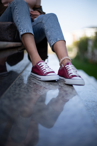 Unisex Bordo Sneaker