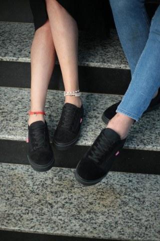 Unisex Günlük Spor Ayakkabı - Kömür Siyahı