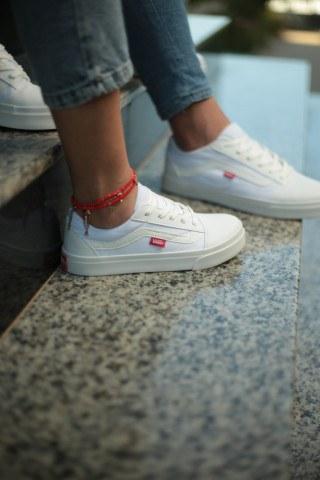 Unisex Günlük Spor Ayakkabı - Tam Beyaz