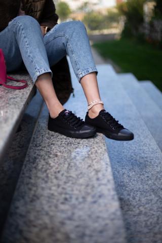 Unisex Kömür Siyahı Sneaker