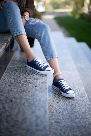 Unisex Lacivert Keten Sneaker