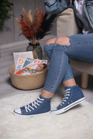 Unisex Lacivert Uzun Spor Ayakkabı